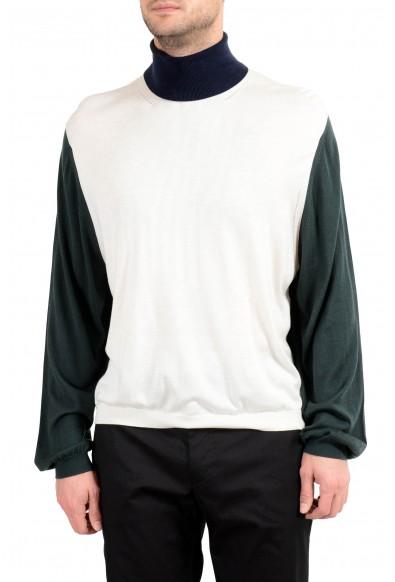 Burberry Men's Silk Cashmere Multi-Color Turtleneck Sweater