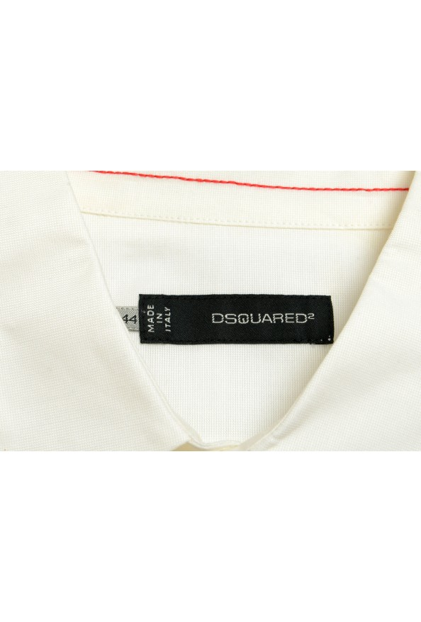 Dsquared2 White Short Sleeve Button Front Women's Shirt: Picture 4