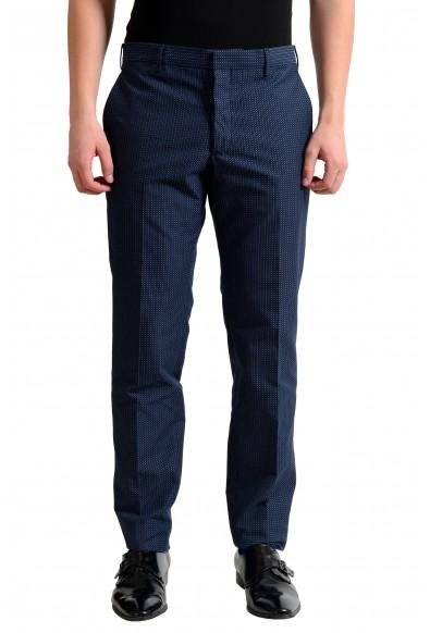 Prada Men's Dark Blue Flat Front Dress Pants