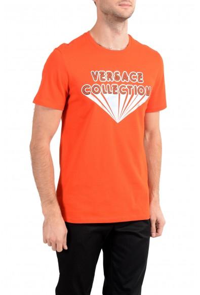 Versace Collection Men's Bright Orange Graphic Crewneck T-Shirt: Picture 2