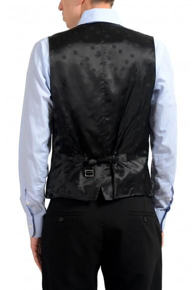 Dolce & Gabbana Men's Black Wool Button Up Dress Vest: Picture 2