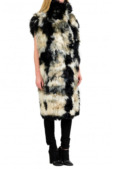 Just Cavalli Wool Alpaca Multi-Color Reversible Women's Vest Coat: Picture 2