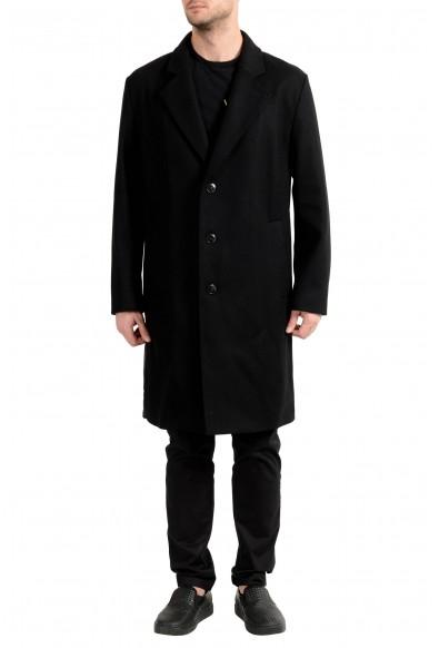 "Hugo Boss ""Malox1841"" Men's Wool Black Three Button Coat"
