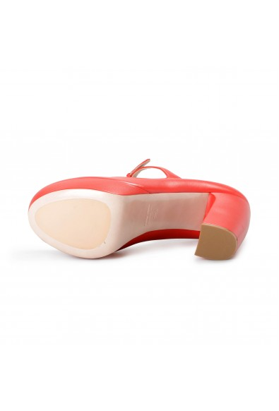 Miu Miu Women's 51P568 Red Leather High Heel Platform Pumps Shoes : Picture 2