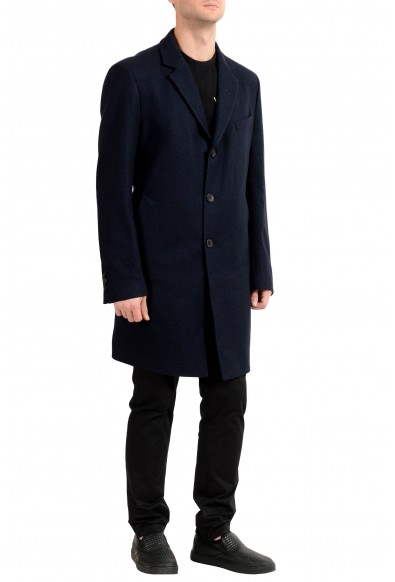 "Hugo Boss ""Nye1"" Men's Wool Dark Blue Three Button Coat : Picture 2"