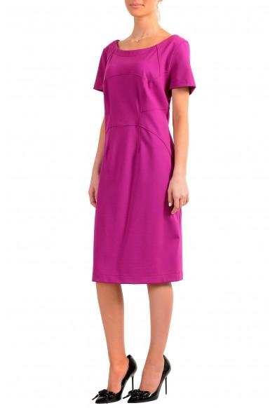 "Hugo Boss Women's ""Katise"" Purple Short Sleeve Pencil Dress : Picture 2"