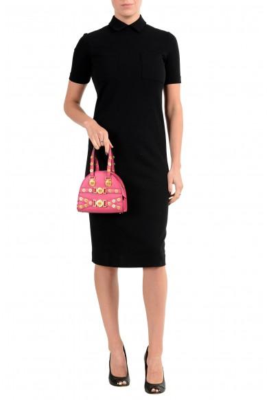 Versace Women's Tribute 100% Leather Pink Handbag Shoulder Bag: Picture 2