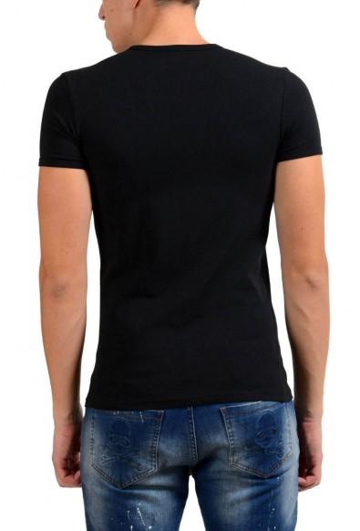 Versace Collection Men's Black Stretch Crewneck Short Sleeve T-Shirt: Picture 2
