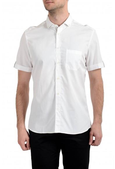 Malo Men's White Short Sleeve Dress Shirt