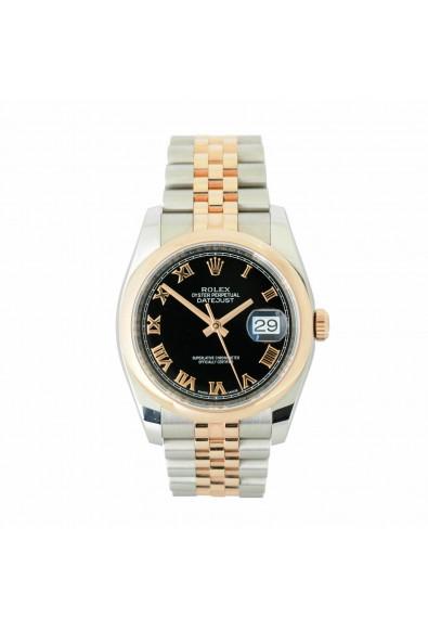 Rolex DATEJUST 18K Rose Gold & Stainless Steel Watch 116201