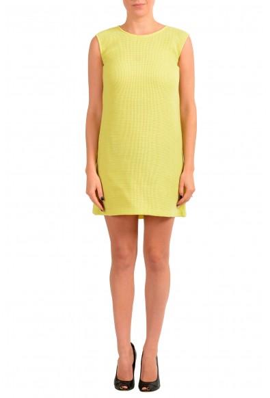 Maison Margiela MM6 Women's Yellow Wool A-Line Shift Dress