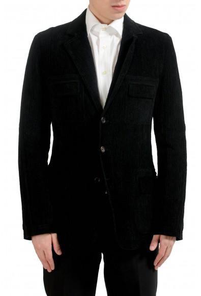 Dolce & Gabbana Men's Black Corduroy Three Button Blazer Sport Coat