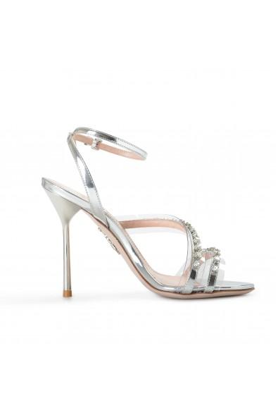Miu Miu Women's 5X390C Sparkle Leather High Heel Sandals Shoes : Picture 2