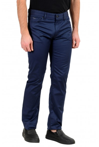 "Hugo Boss Men's ""Maine3-20"" Regular Fit Blue Stretch Jeans: Picture 2"