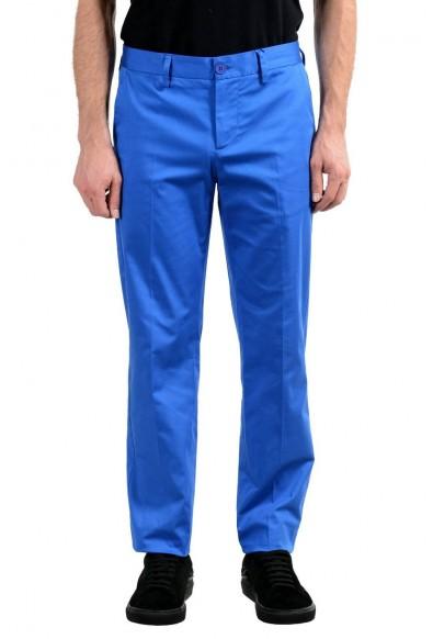 Versace Jeans Men's Blue Stretch Casual Pants