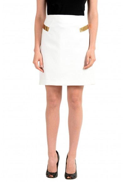 Versace Collection Women's Ivory A-Line Skirt