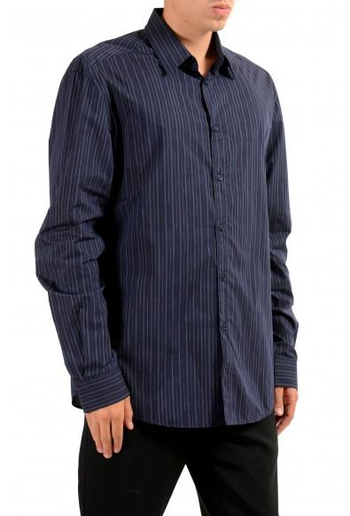 Versace Men's Blue Striped Long Sleeve Dress Shirt: Picture 2