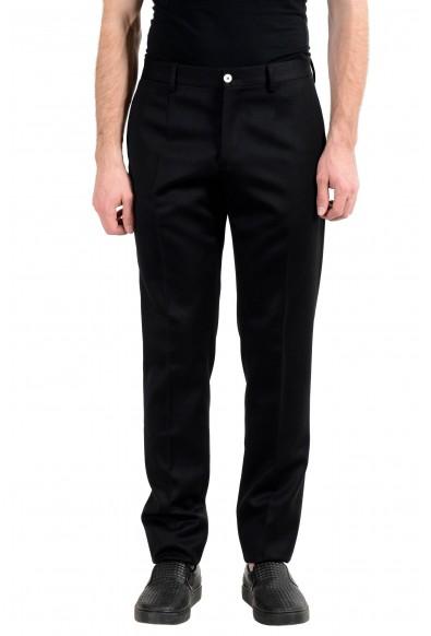 Versace Men's 100% Wool Black Dress Pants