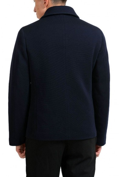 Prada Wool Navy Double Breasted Men's Basic Jacket : Picture 2