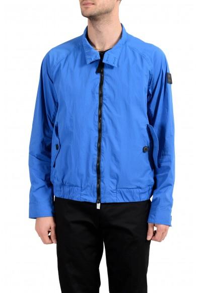 "Hugo Boss ""Osames-D"" Men's Blue Full Zip Windbreaker Jacket"