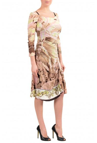 Roberto Cavalli Women's Multi-Color Silk Boatneck Dress : Picture 2