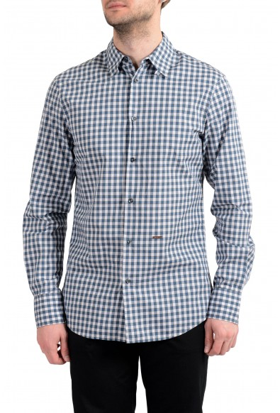 Dsquared2 Men's Plaid Long Sleeve Casual Shirt