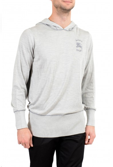 Burberry Men's Silk Cashmere Gray Hooded Sweater : Picture 2