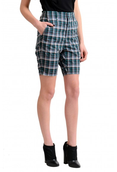 Dsquared2 Multi-Color Checkered Flat Front Women's Casual Shorts: Picture 2