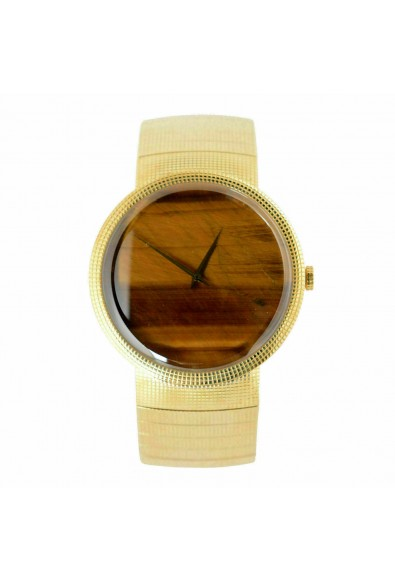 Christian Dior La D De Dior Yellow Gold Tiger's Eye Dial Solid Swiss Gold Watch