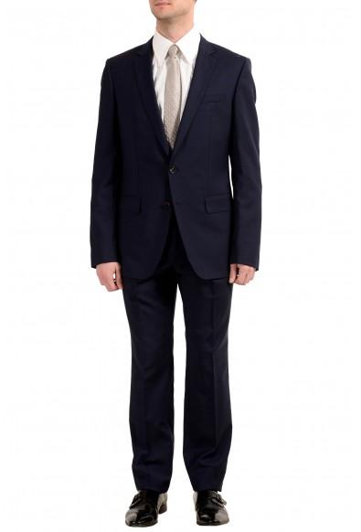 """Hugo Boss """"Huge4/Genius3"""" Men's 100% Wool Blue Two Button Suit"""