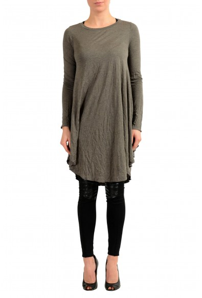 Maison Margiela MM6 Angora Cashmere Gray Women's Tunic Dress