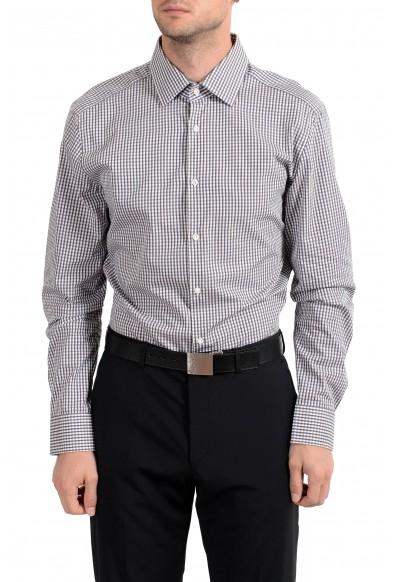 "Hugo Boss ""T-Thob"" Men's Plaid Slim Fit Long Sleeve Dress Shirt"