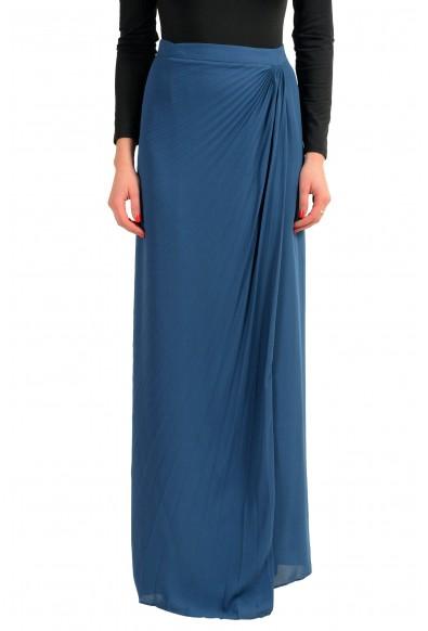 Maison Margiela 4 Blue Women's Pleated Maxi Skirt