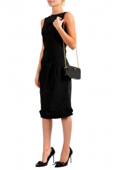 Prada Women's 1DH010 100% Saffiano Leather Chain Mini Shoulder Bag: Picture 2