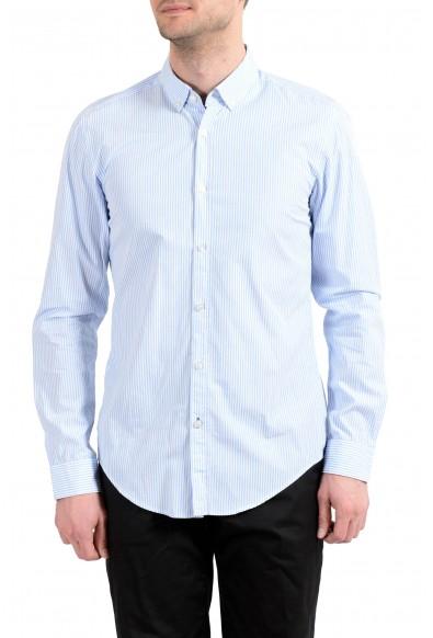 "Hugo Boss Men's Rikard_53"" Slim Fit Striped Long Sleeve Casual Shirt"