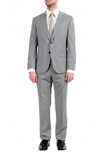 """Hugo Boss """"Johnstons4/Lenon1"""" Men's 100% Wool Gray Two Button Suit"""