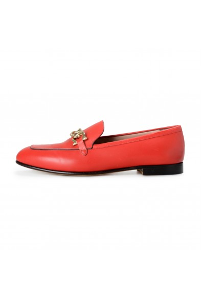 """Salvatore Ferragamo Women's """"BOY"""" Red Leather Loafers Moccasins Shoes: Picture 2"""