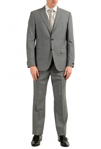 """Hugo Boss """"The Grand/Central US"""" Men's 100% Wool Gray Two Button Suit"""