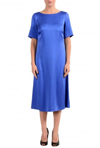 "Hugo Boss ""Dibeca"" Women's Blue Short Sleeve Sheath Dress"