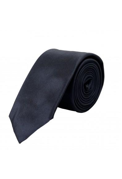 Hugo Boss Men's Navy Blue Logo Print Silk Tie