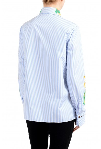 Versace Women's Embroidered Button Down Long Sleeve Shirt : Picture 2