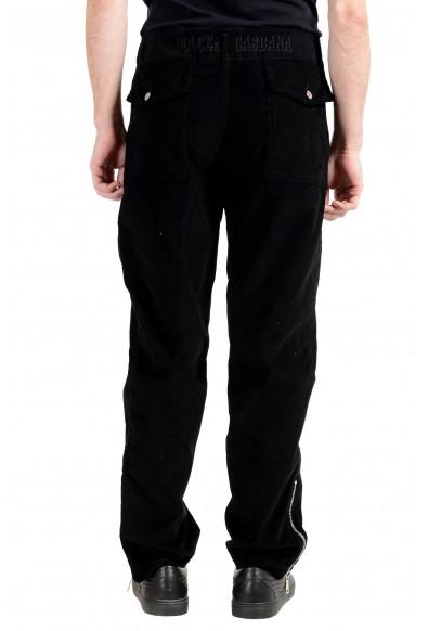 Dolce&Gabbana Men's Black Pleated Corduroy Casual Pants: Picture 2