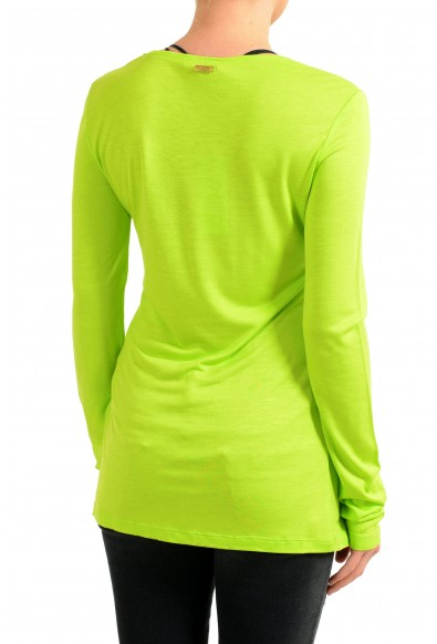 Versace Jeans Women's Green Crewneck Long Sleeve Top: Picture 2