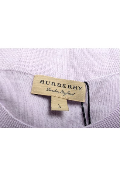 Burberry Women's Pale Purple 100% Wool Knitted Sweater Blouse Top: Picture 2