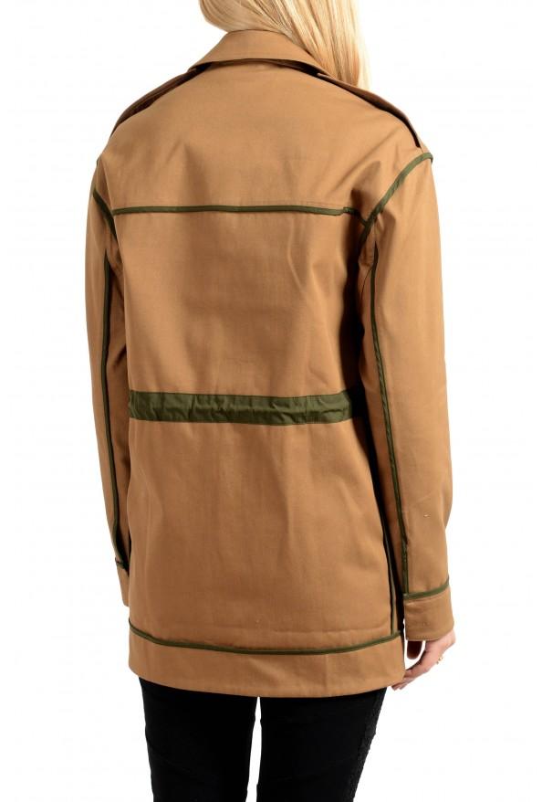 Versace Women's Brown Button Down Blazer Jacket Coat: Picture 2
