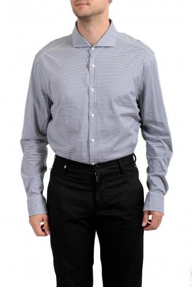 "Hugo Boss Men's ""T-Swain"" Slim Fit Striped Long Sleeve Dress Shirt: Picture 2"