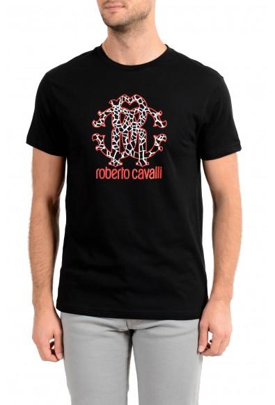 "Roberto Cavalli ""Beachwear"" Men's Black Graphic Print T-Shirt"