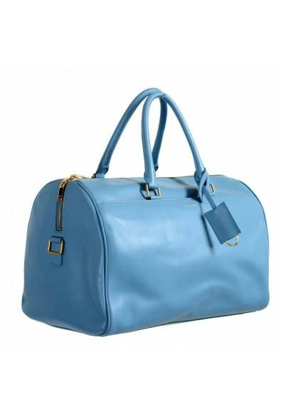 Saint Laurent Women's Blue Calfskin Leather Classic Duffle 12 Bag