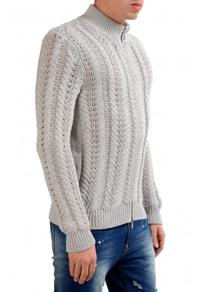 Malo Men's Silk Cashmere Full Zip Heavy Knitted Sweater: Picture 2