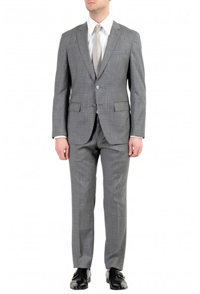 "Hugo Boss ""Helford/Gender3"" Men's 100% Wool Slim Gray Two Button Suit"